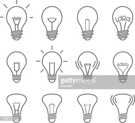 Different light bulb isolated on white