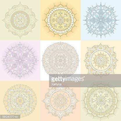 Circular Floral Ornament Template For Tattoo or Else