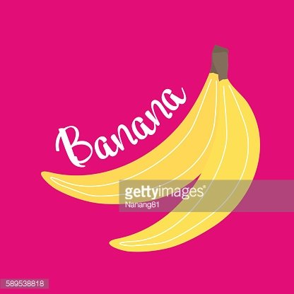 Banana design with hot pink background