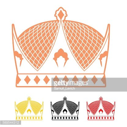 Crown flat style icon. Headdress symbol of monarchical power