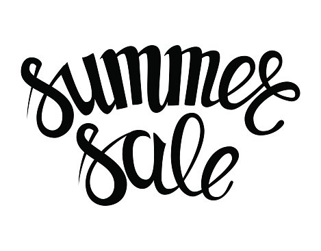 handwritten season sale inscriptions. summer sale vector hand lettering.