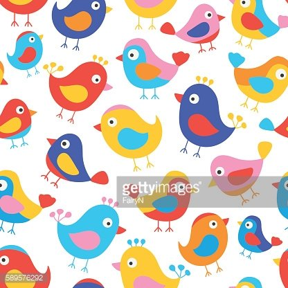 birds kids pattern