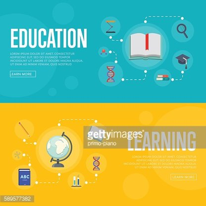 Education infographics concept banners