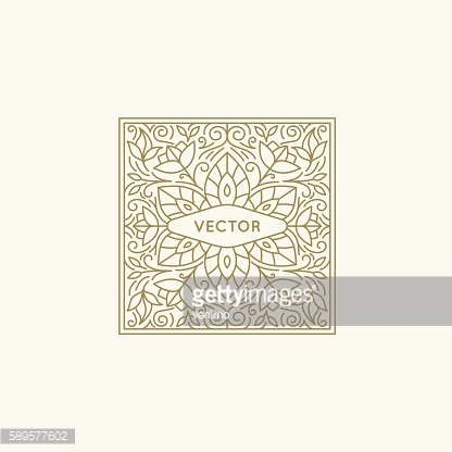 Vector square logo and monogram design element