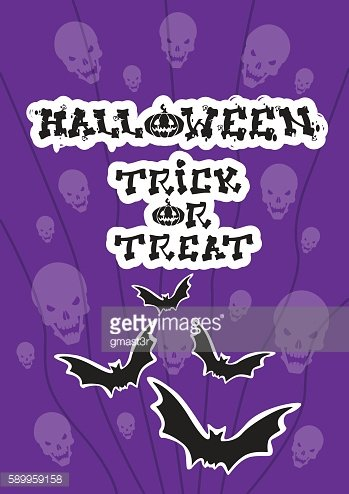 Happy Halloween Banner Bat Vampire Party Invitation Card