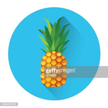 Pineapple Colorful Fruit Icon