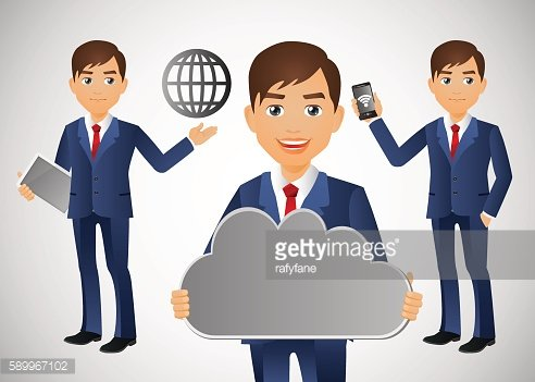 Elegant People - Businessman Cloud computing