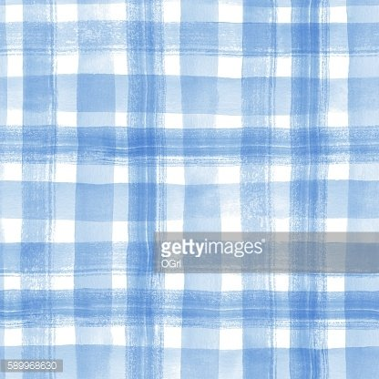 Watercolor stripes. Checkered seamless pattern 3