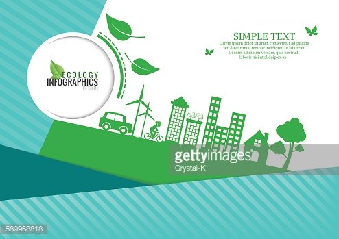 Ecology connection concept background .Vector infographic illust