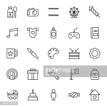 Baby & Kids Vector Icons 5