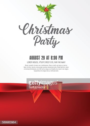 Christmas Party Lettering and Mistletoe