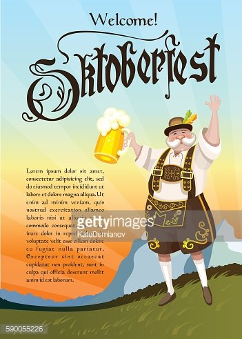 Oktoberfest. The man with the beer.
