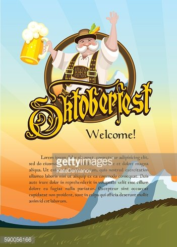 Oktoberfest. A man with a beer in hand.