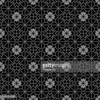Antique seamless background 435 check square cross geometry line flower