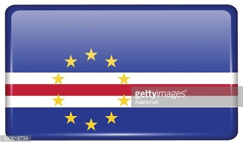 Flags Cape Verde in the form of a magnet on