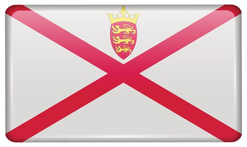 Flags Jersey in the form of a magnet on refrigerator