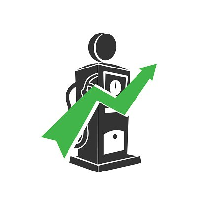 Vector Gas Station Icon With Graph Symbol Premium Clipart