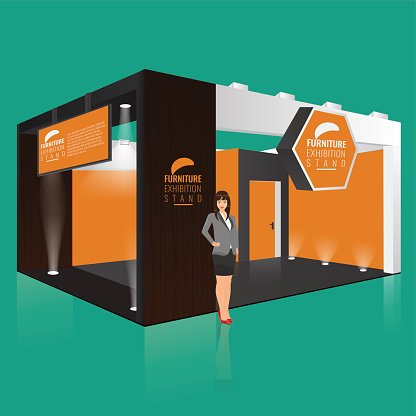 Exhibition Stand Template : Creative exhibition stand booth corporate identity vector premium
