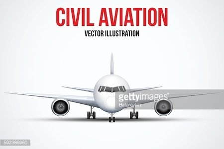 Civil Aircraft standing on the chassis
