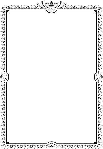 Decorative Frame With Swirls and A4 Paper premium clipart ...