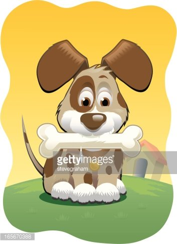 Dog With Bone Clipart - Free Transparent PNG Clipart Images Download