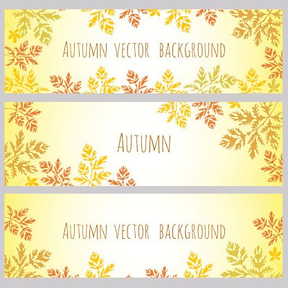 Autumn grass. Vector background. Invitation, greeting card, banner