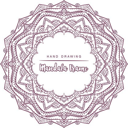 Vector mandala for coloring with floral decorative elements. Design Element