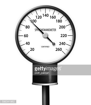 Blood pressure gauge isolated
