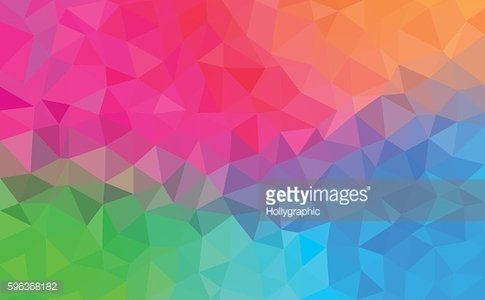 Polygonal Background for webdesign - Blue, pink, green, orange colors