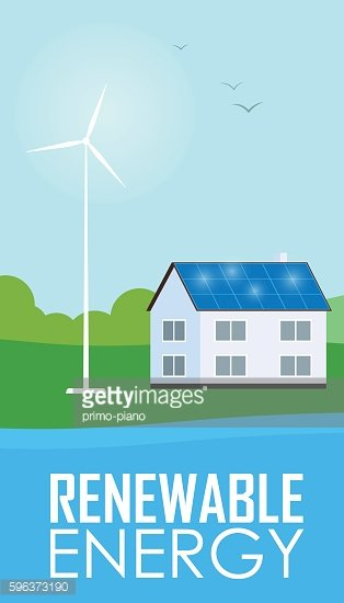Renewable energy. Sun and wind generation
