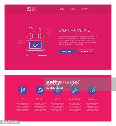 Event Marketing vector design template for websites and apps