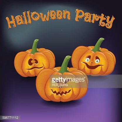 Poster cartoon-style fun halloween disco party with ghosts, p