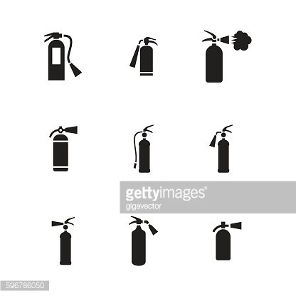 Gas cylinder vector icons