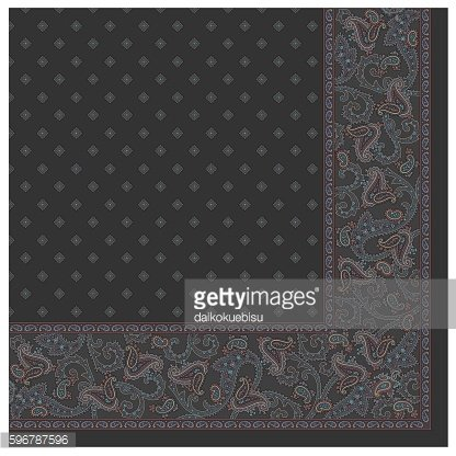 Paisley scarf material