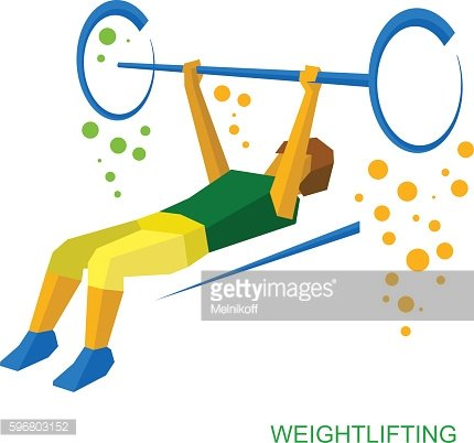 Physically disabled weightlifter. Weightlifting for people with disabilities.