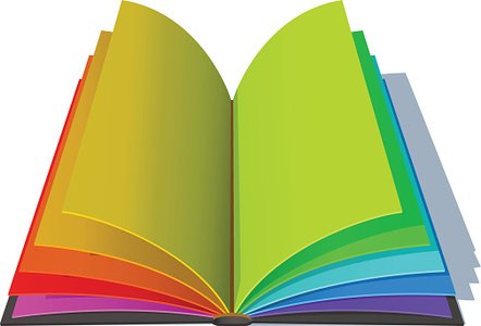 Opened Book With Colorful Pages Premium Clipart Clipartlogo Com