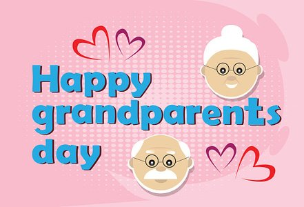 Grandfather with grandmother happy grandparents day greeting card grandfather with grandmother happy grandparents day greeting card banner m4hsunfo
