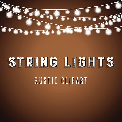 String Of Lights Background : Rustic String Lights Background premium clipart - ClipartLogo.com