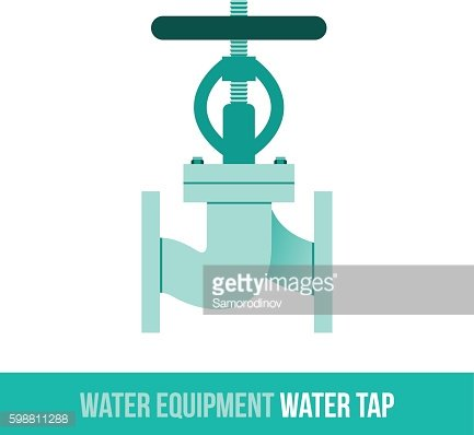 vector flat icon water tap