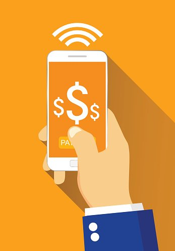 Concept of shopping or mobile banking