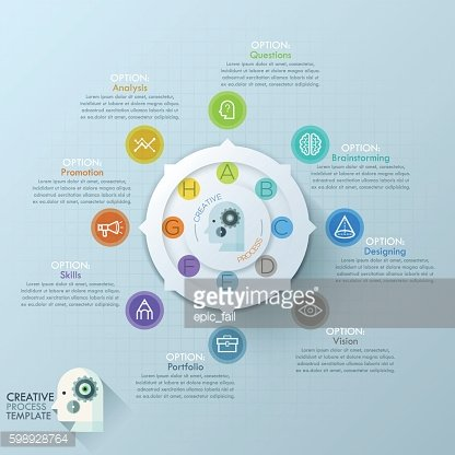 Modern infographics options banner with
