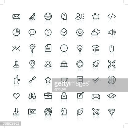 Modern thin line icons set of doing business elements, solution