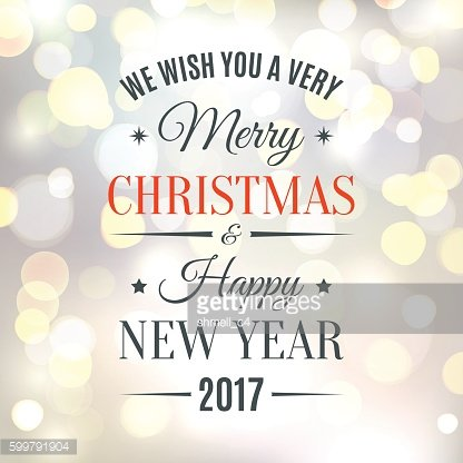 Merry Christmas and Happy New Year 2017 background.