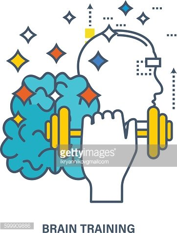 Concept of creative design and brain training.