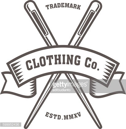 Sewing Needle, Logo, Vector