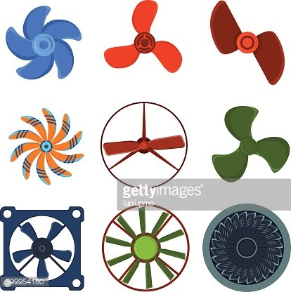 Propeller fan vector illustration.