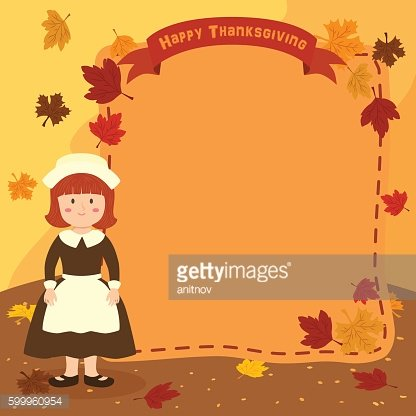 Thanksgiving Girl Notes Greeting Card