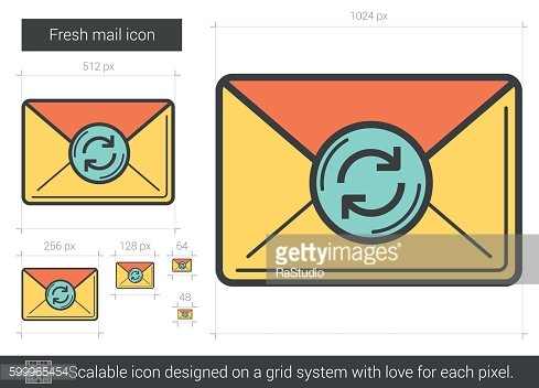 Fresh mail line icon.
