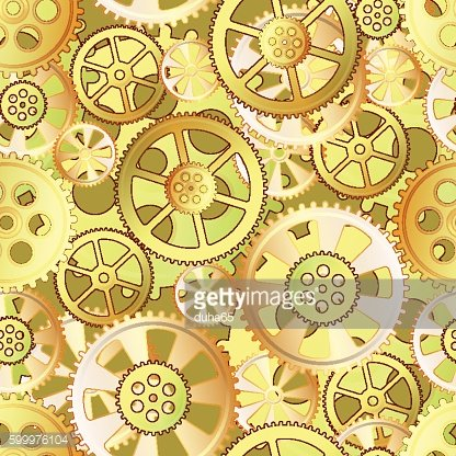 yellow gears seamless