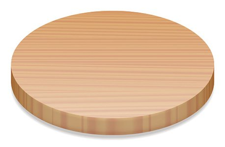 Wood round. Wooden board premium clipart